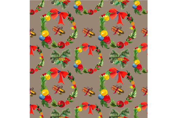 Print on Demand: Seamless Christmas Pattern Graphic Patterns By kakva