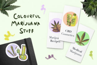 Colourful Marijuana Stuff Graphic Illustrations By AlenaO