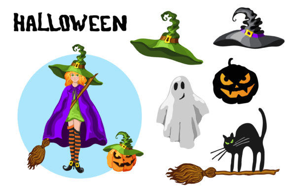 Print on Demand: Halloween Cartoon Graphic Set - 30 in 1 Graphic Illustrations By TasiPas - Image 3