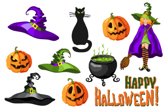 Print on Demand: Halloween Cartoon Graphic Set - 30 in 1 Graphic Illustrations By TasiPas - Image 4