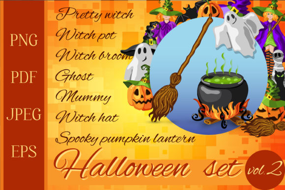 Print on Demand: Halloween Cartoon Graphic Set - 30 in 1 Graphic Illustrations By TasiPas - Image 1