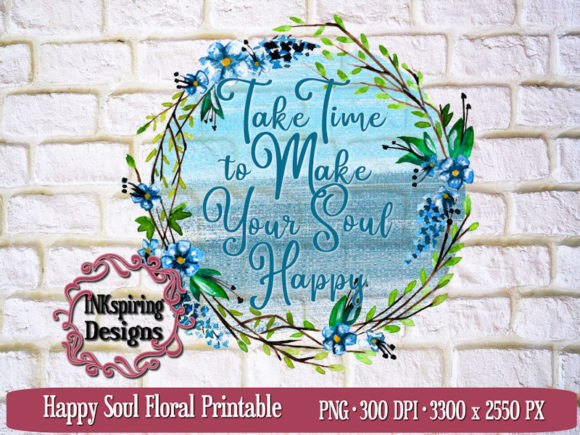 Print on Demand: Happy Soul Sublimation Design Graphic Illustrations By INKspiring Designs