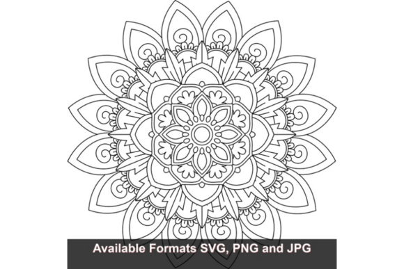 Download Free Mandala Art 36 Graphic Graphic By Iwantto Us Creative Fabrica for Cricut Explore, Silhouette and other cutting machines.