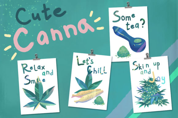 Cute Canna Graphic Illustrations By AlenaO