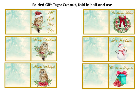 Print on Demand: Watercolour Christmas Owls Clipart Kit Graphic Illustrations By The Paper Princess - Image 4