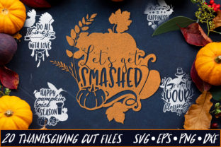 Thanksgiving SVG Cut Files Pack 4 Graphic By Craft-N-Cuts