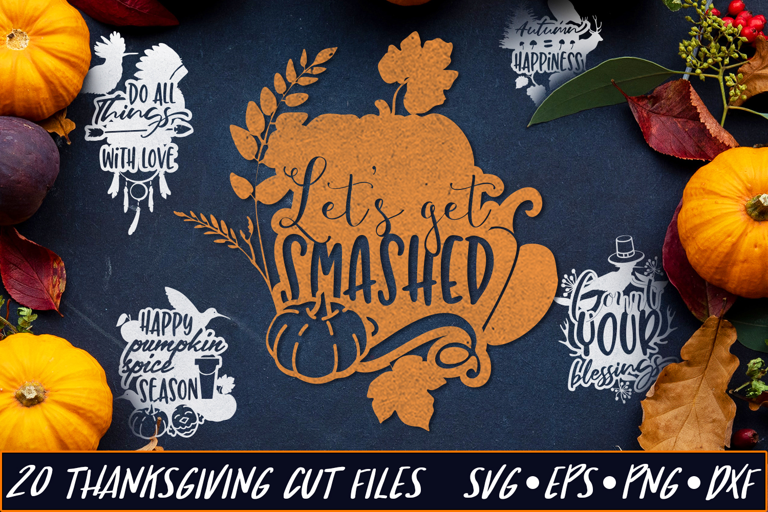 Download Free Thanksgiving Pack 4 Grafico Por Craft N Cuts Creative Fabrica for Cricut Explore, Silhouette and other cutting machines.