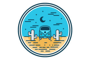 Download Free Adventure Car In The Pine Filled Icon Graphic By Graphicrun123 for Cricut Explore, Silhouette and other cutting machines.