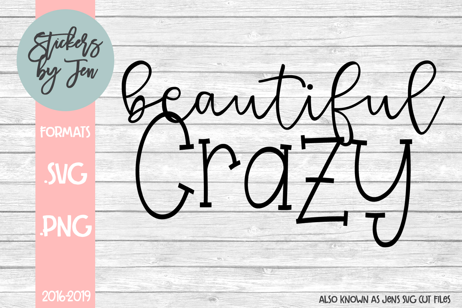Download Free Beautiful Crazy Graphic By Stickers By Jennifer Creative Fabrica for Cricut Explore, Silhouette and other cutting machines.