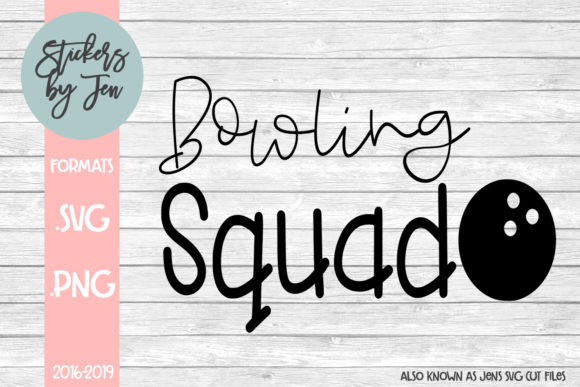 Bowling Squad Graphic By Stickers By Jennifer Creative Fabrica