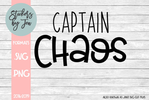 Download Free Captain Chaos Graphic By Stickers By Jennifer Creative Fabrica for Cricut Explore, Silhouette and other cutting machines.