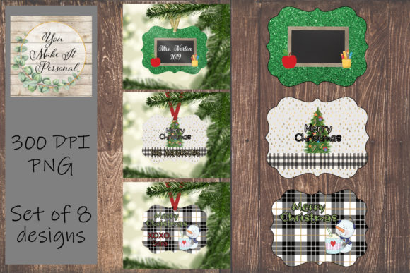 Download Free Sublimation Ornament Templates Graphic By You Make It Personal for Cricut Explore, Silhouette and other cutting machines.