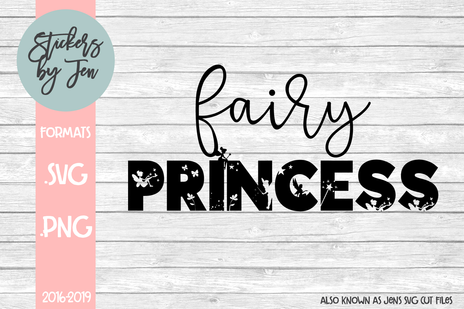 Download Free Fairy Princess Svg Graphic By Stickers By Jennifer Creative for Cricut Explore, Silhouette and other cutting machines.