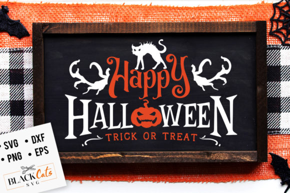 Happy Halloween - Trick or Treat SVG Graphic Crafts By BlackCatsMedia