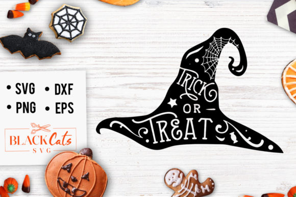 Download Free Hat Trick Or Treat Svg Graphic By Blackcatsmedia Creative SVG Cut Files