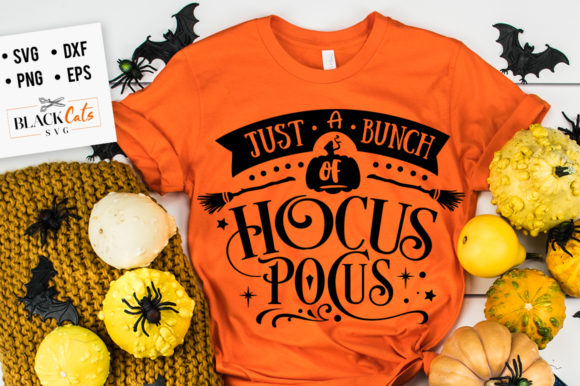 Just a Bunch of Hocus Pocus SVG Graphic Crafts By BlackCatsMedia