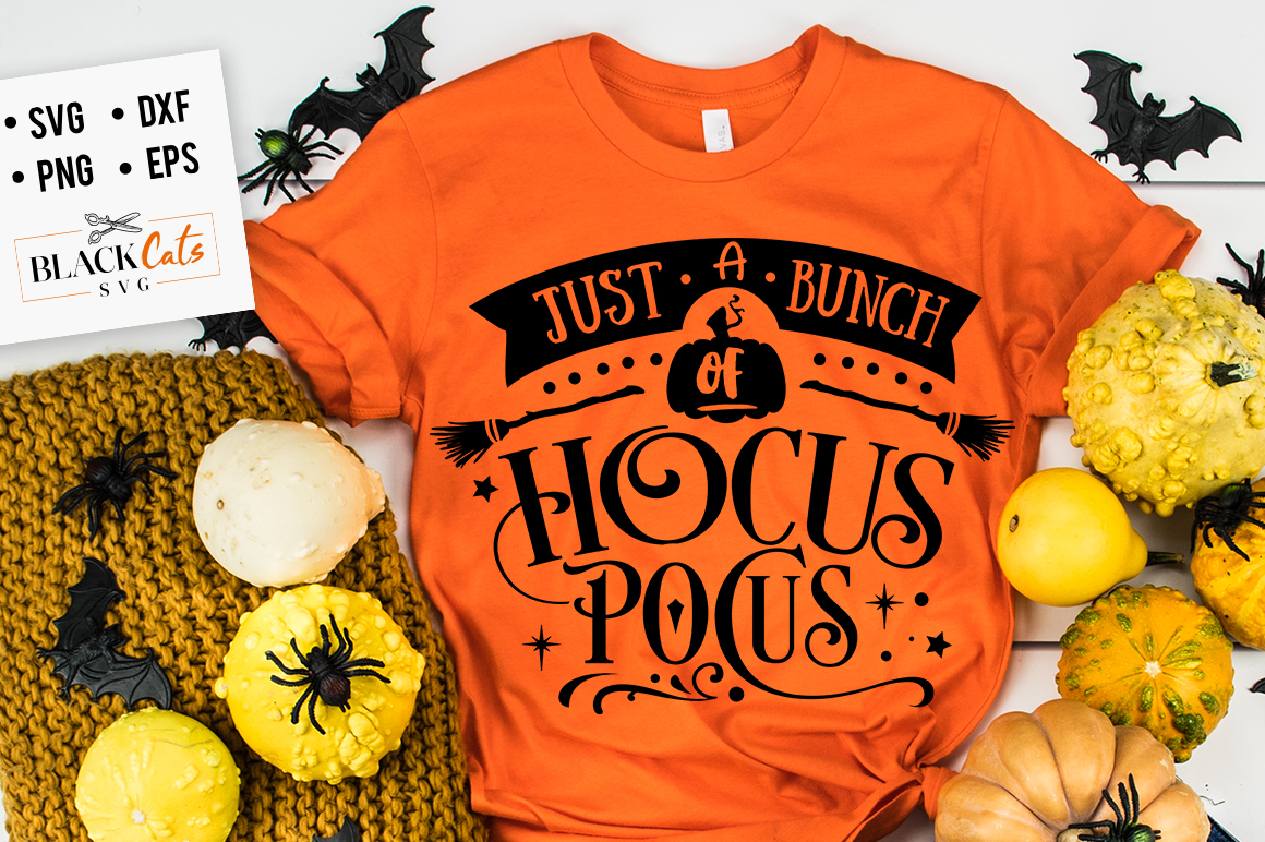 Download Free Just A Bunch Of Hocus Pocus Svg Graphic By Blackcatsmedia for Cricut Explore, Silhouette and other cutting machines.
