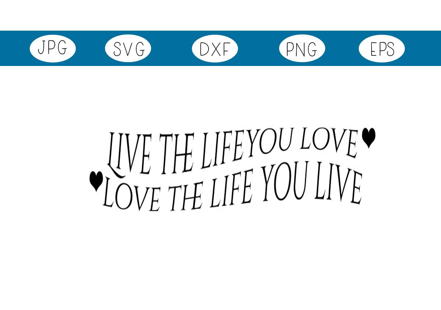 Download Free Live The Life Graphic By Capeairforce Creative Fabrica for Cricut Explore, Silhouette and other cutting machines.