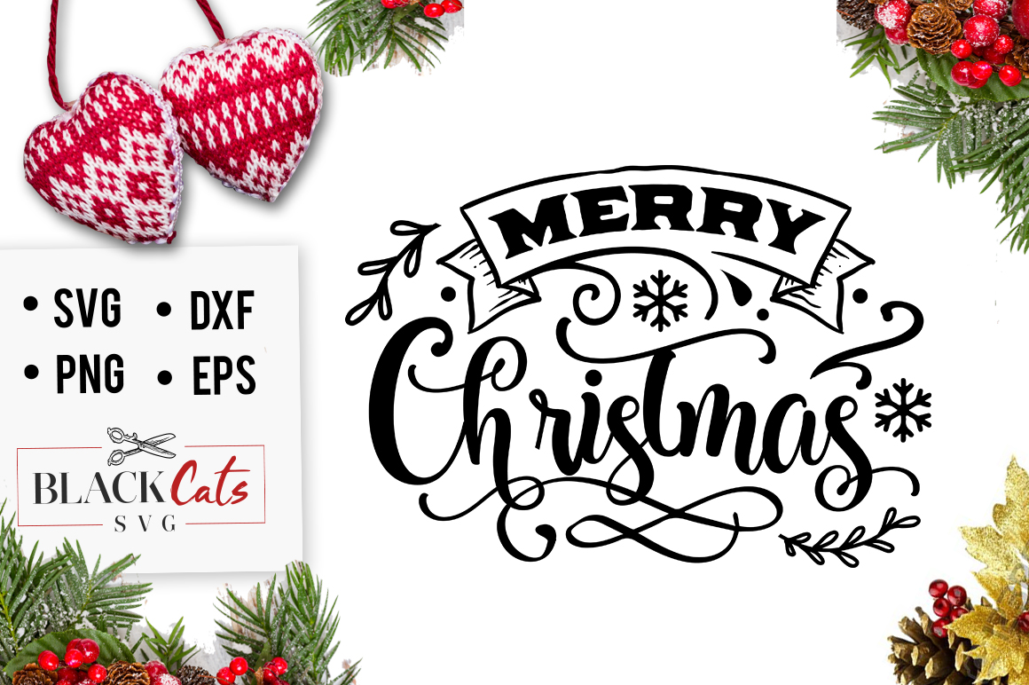 Download Free Merry Christmas Svg Grafico Por Blackcatsmedia Creative Fabrica for Cricut Explore, Silhouette and other cutting machines.