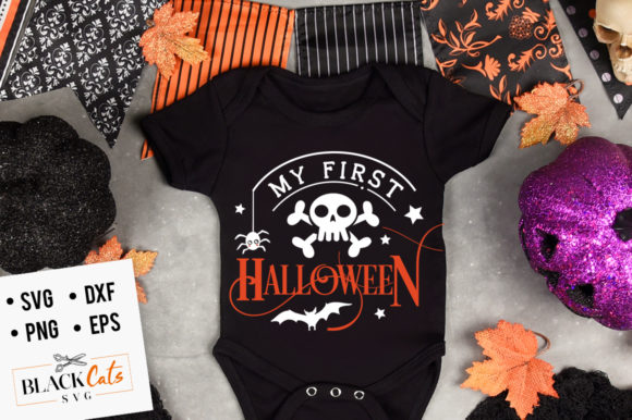 My First Halloween SVG Graphic Crafts By BlackCatsMedia - Image 1