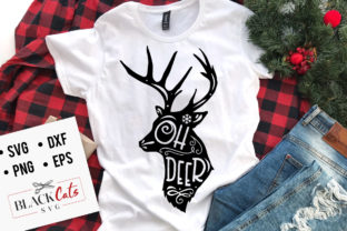 Download Free Oh Deer Graphic By Blackcatsmedia Creative Fabrica for Cricut Explore, Silhouette and other cutting machines.
