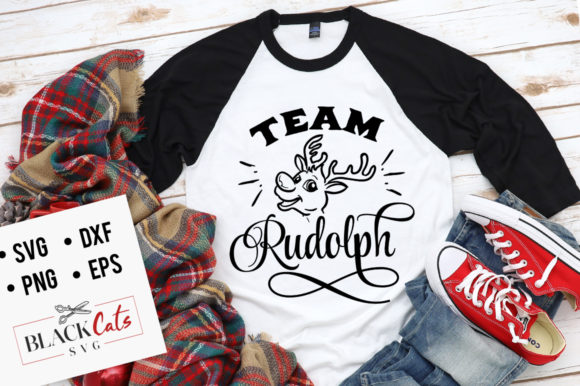 Download Free Team Rudolph Svg Graphic By Blackcatsmedia Creative Fabrica for Cricut Explore, Silhouette and other cutting machines.