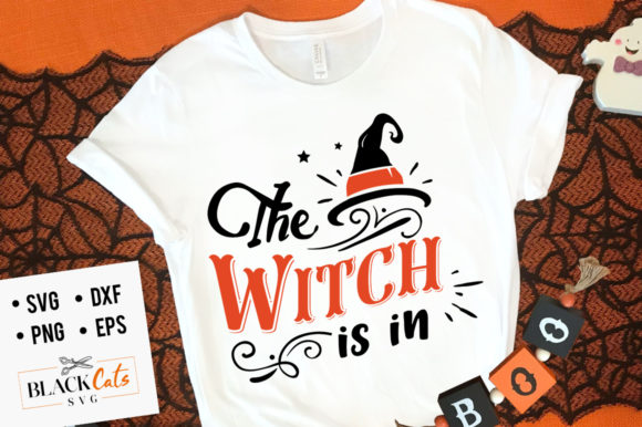 Download Free The Witch Is In Svg Grafico Por Blackcatsmedia Creative Fabrica for Cricut Explore, Silhouette and other cutting machines.