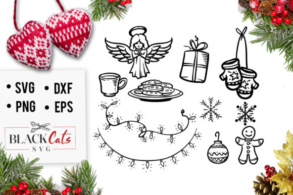 Download Free Winter Doodles 2 Svg Graphic By Blackcatsmedia Creative Fabrica for Cricut Explore, Silhouette and other cutting machines.