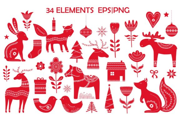 Scandinavian Christmas Pack Graphic Illustrations By Alisovna - Image 5