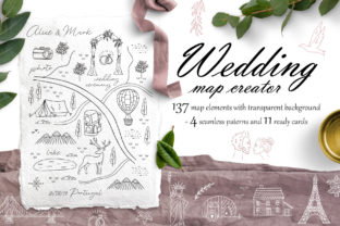 Wedding Map Creator Graphic By Alisovna