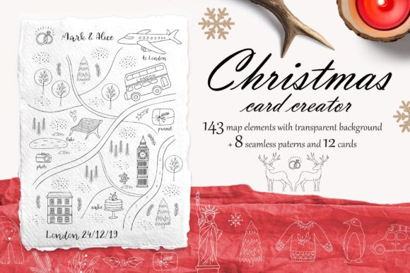 Christmas Card Creator Graphic Illustrations By Alisovna