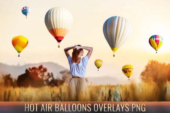 36 Hot Air Balloon Photo Overlays Graphic Layer Styles By 2SUNS