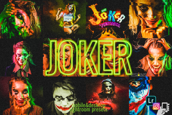 9 Joker andHalloween Presets Graphic Layer Styles By 2SUNS