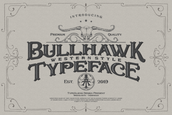 Print on Demand: Bullhawk Display Font By typealiens