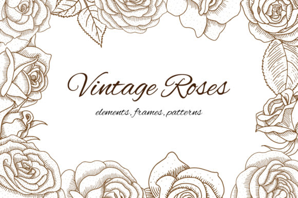 Print on Demand: Vintage Roses Graphic Illustrations By annamagenta