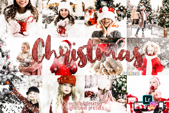 Christmas Presets Winter Lightroom Graphic Actions & Presets By 2SUNS