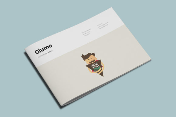 Glume Portfolio Template Graphic Print Templates By meenom