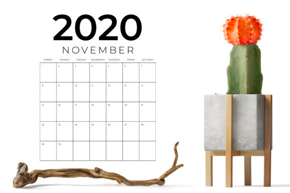 Print on Demand: Vertical 8.5 X 11 Inch 2020 Calendar Graphic Graphic Templates By Running With Foxes - Image 7