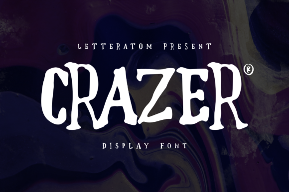 Print on Demand: Crazer Display Font By Letteratom
