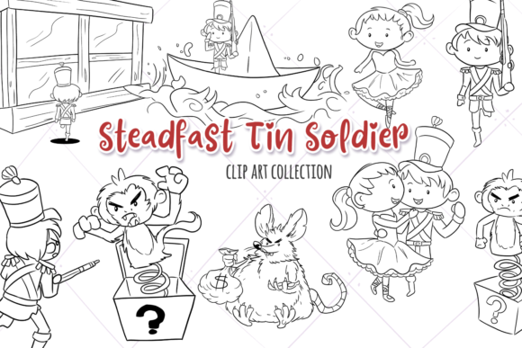 Print on Demand: Steadfast Tin Solider Digital Stamps Graphic Illustrations By Keepinitkawaiidesign
