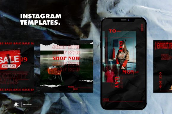 Print on Demand: Instagram Template Vol.4 Graphic Graphic Templates By ovoz.graphics