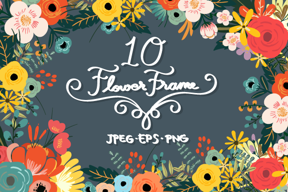 Flower Frame Set Graphic Illustrations By SkyClick