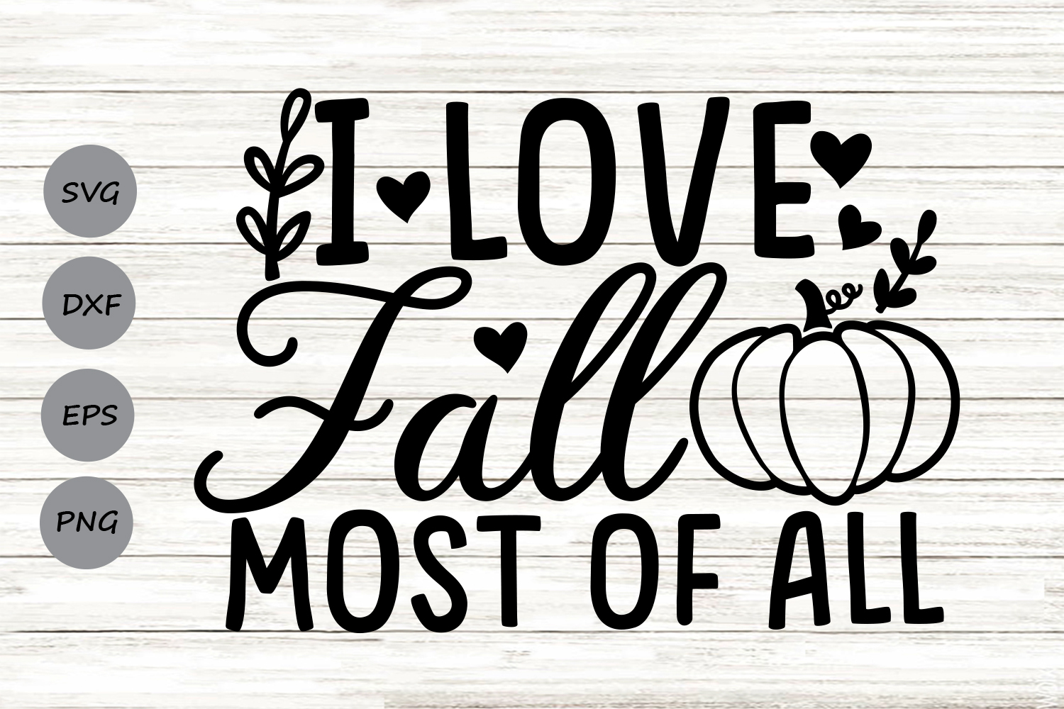 Download Free I Love Fall Most Of All Svg Graphic By Cosmosfineart Creative for Cricut Explore, Silhouette and other cutting machines.
