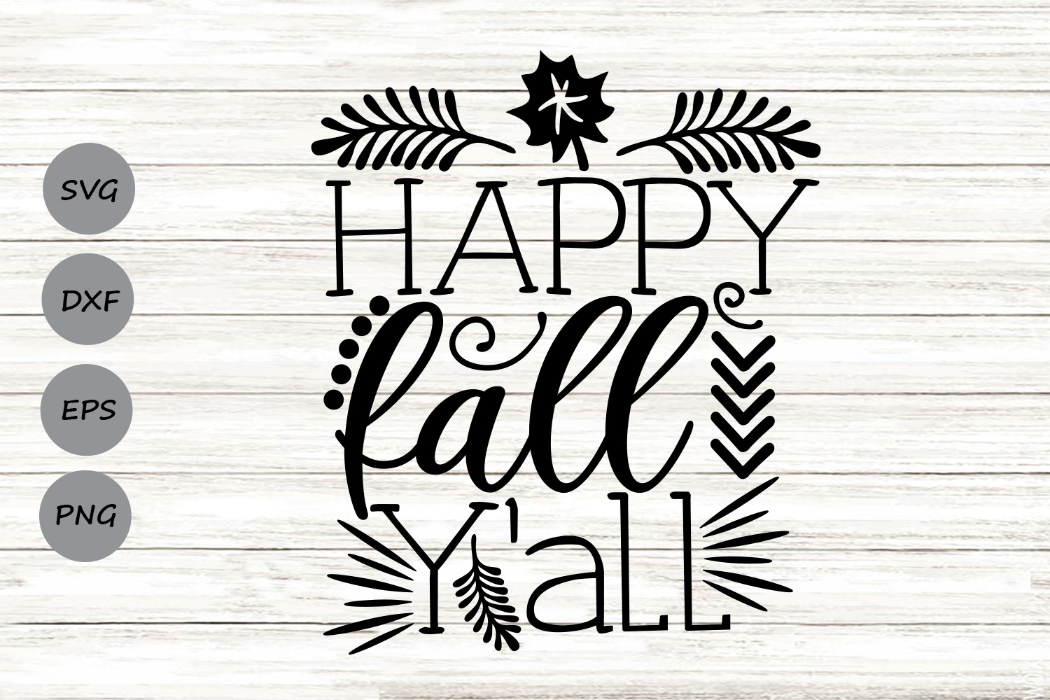 Download Free Happy Fall Y All Svg Graphic By Cosmosfineart Creative Fabrica for Cricut Explore, Silhouette and other cutting machines.