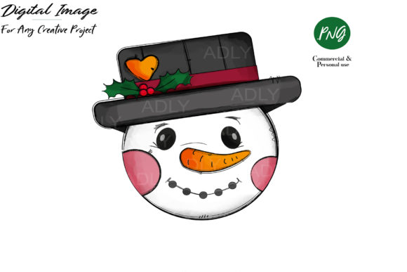 Print on Demand: Snowman Design, Christmas Sublimation Graphic Illustrations By adlydigital