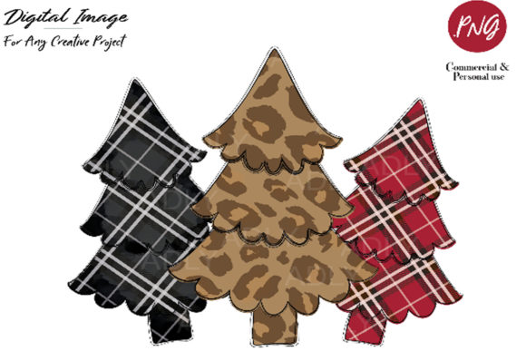 Print on Demand: Christmas Tree Design, Christmas ClipArt Graphic Illustrations By adlydigital - Image 1