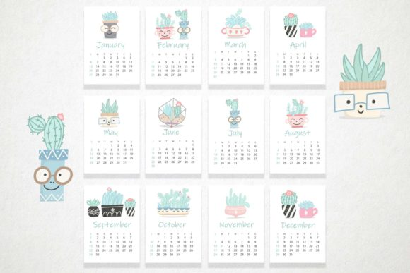 Cute Cactus Set Graphic Illustrations By Alisovna - Image 10