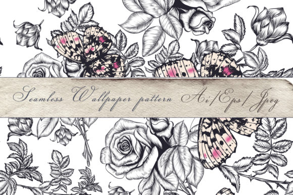 Fashion Vintage Beautiful Vector Pattern Graphic Patterns By fleurartmariia