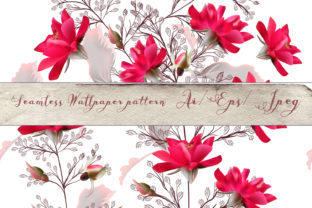 Download Free Fashion Vector Pattern With Pink Roses Graphic By Fleurartmariia for Cricut Explore, Silhouette and other cutting machines.