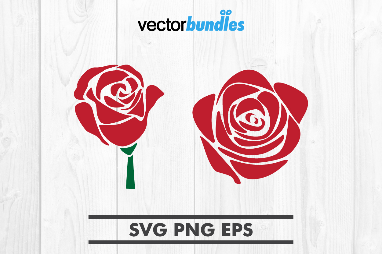 Download Free Rose Flower Clip Art Svg Graphic By Vectorbundles Creative Fabrica for Cricut Explore, Silhouette and other cutting machines.